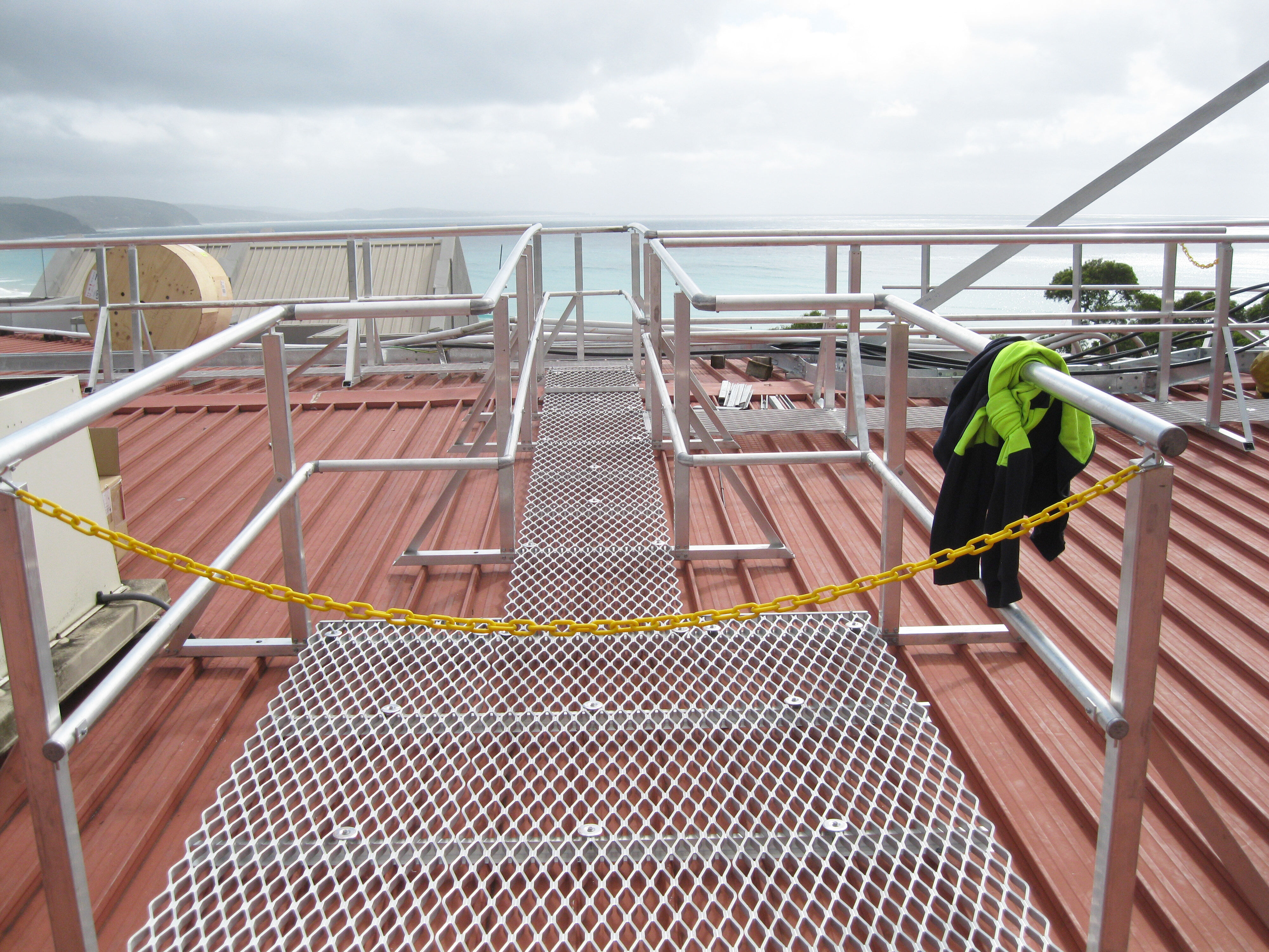 Roof Access Platform and Handrails