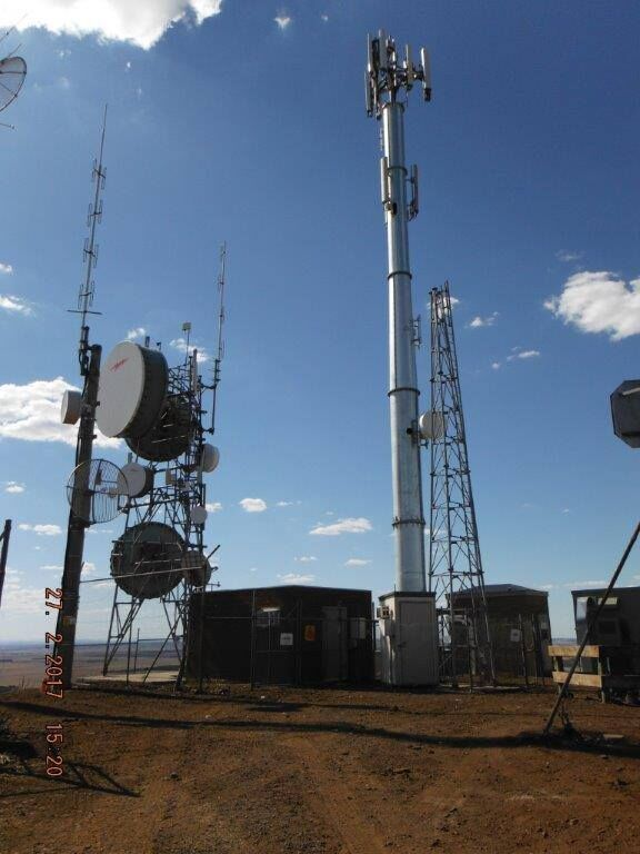 Monopole Strengthening including all Antenna Mounts for Ericsson Australia at Mt Shadwell Victoria.