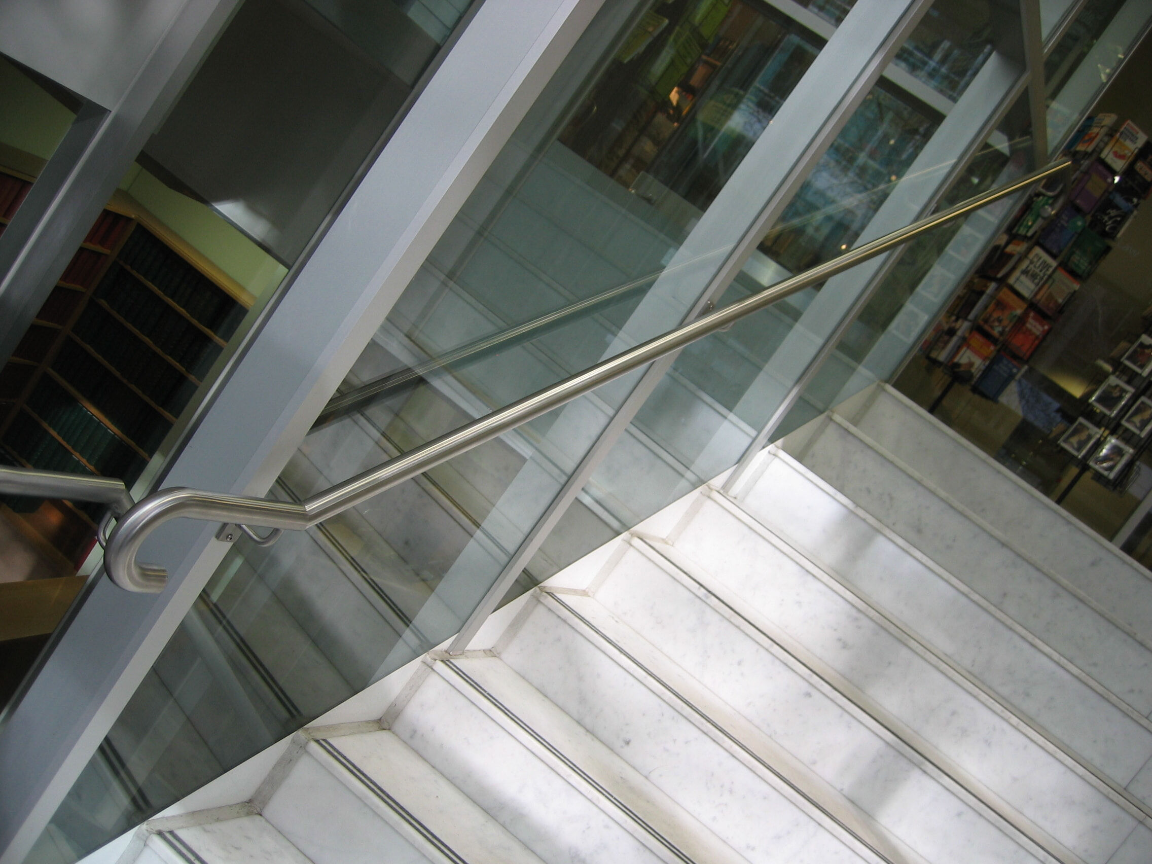 Access stairs handrail