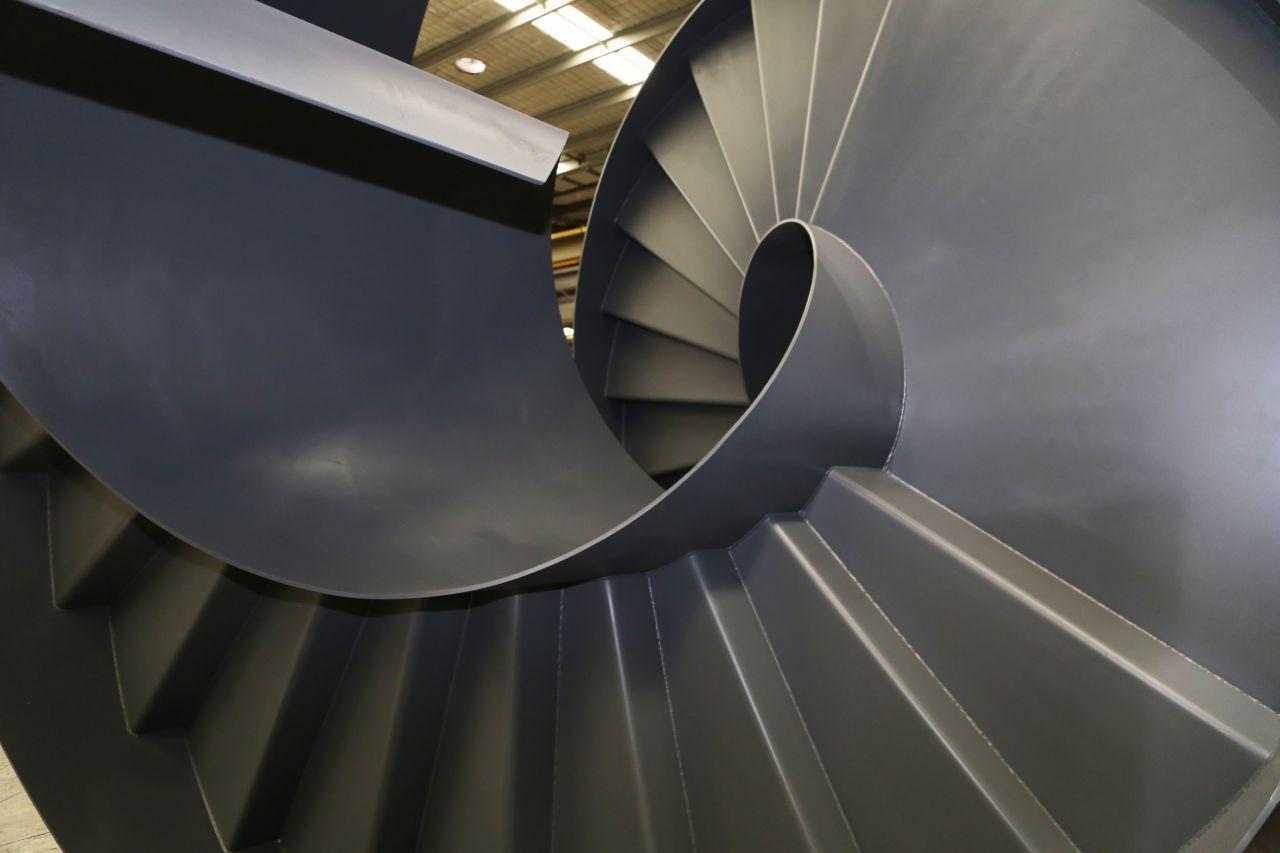 Spiral Steel Stair Case