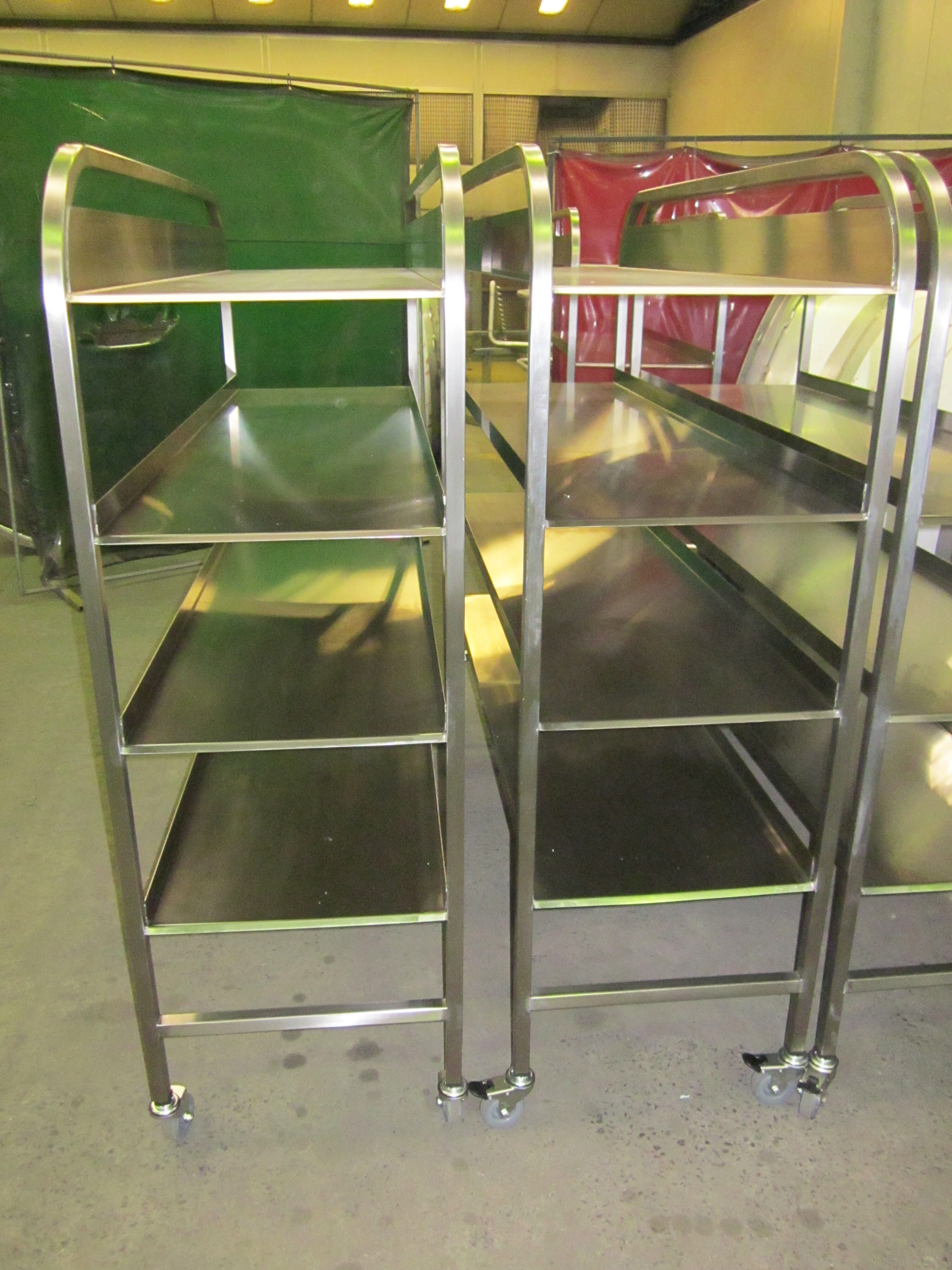 Food and Beverage stainless steel trolley