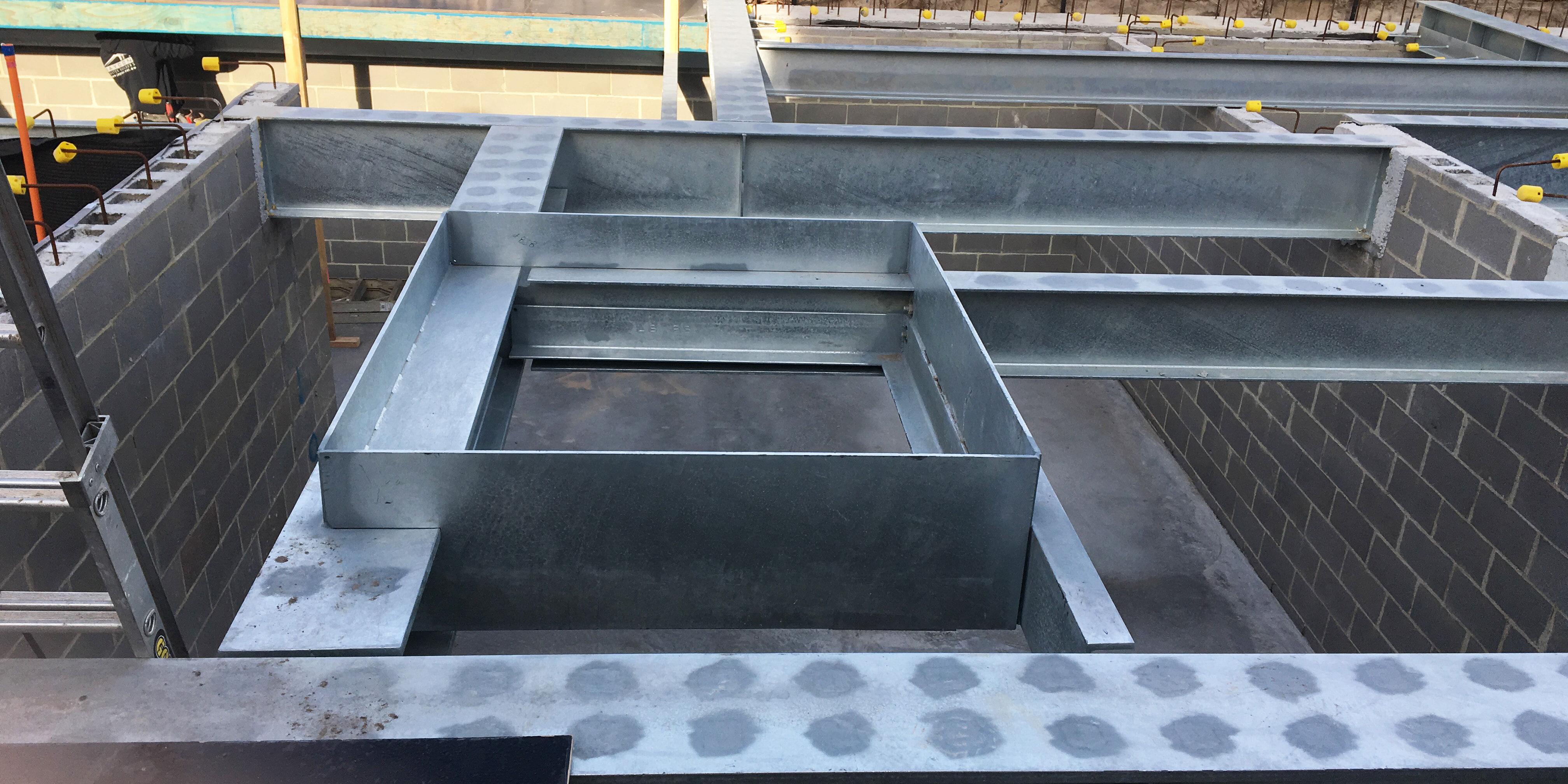 Construction steel floor frame