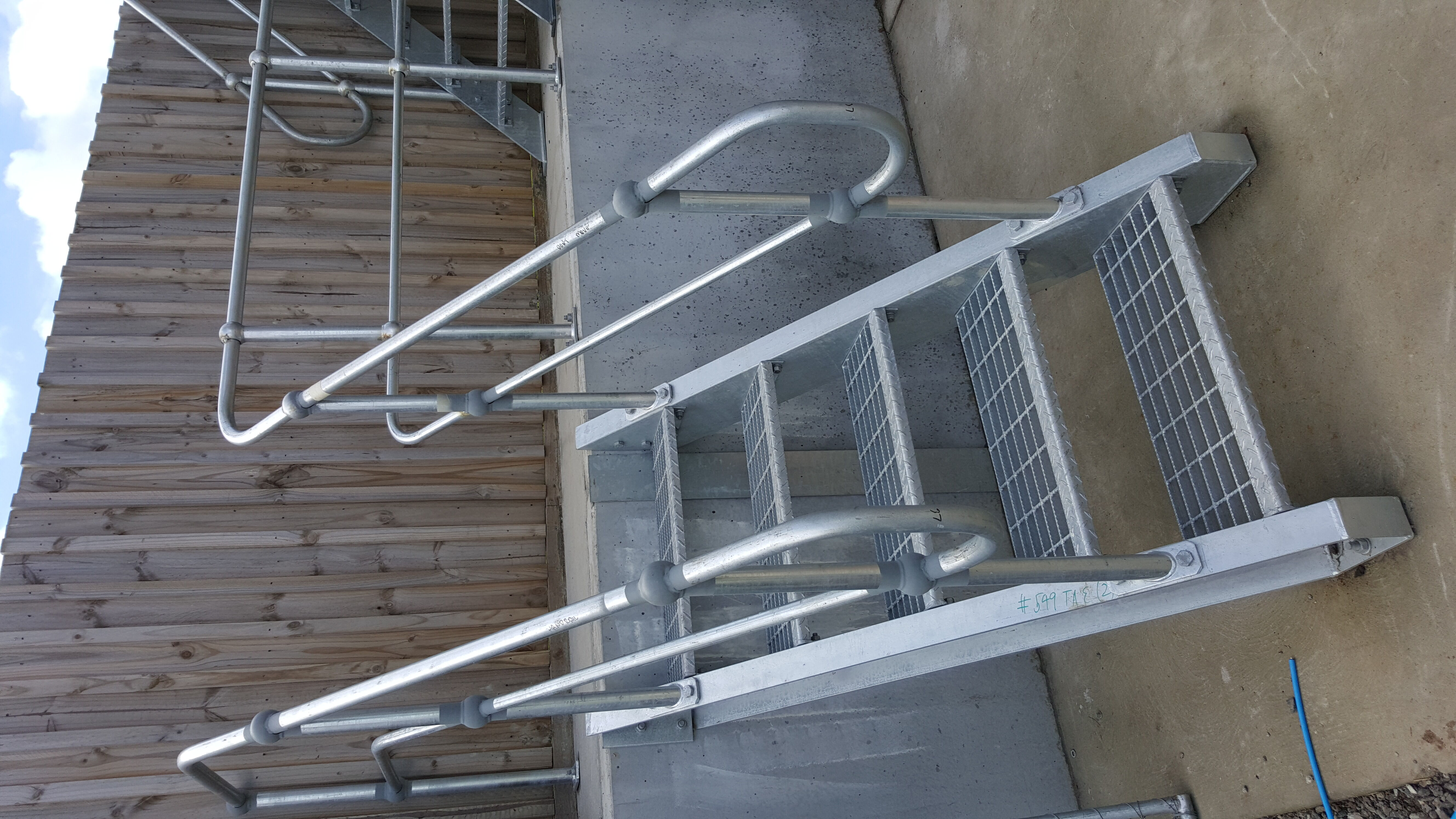 Stainless Steel Staircase with Railing