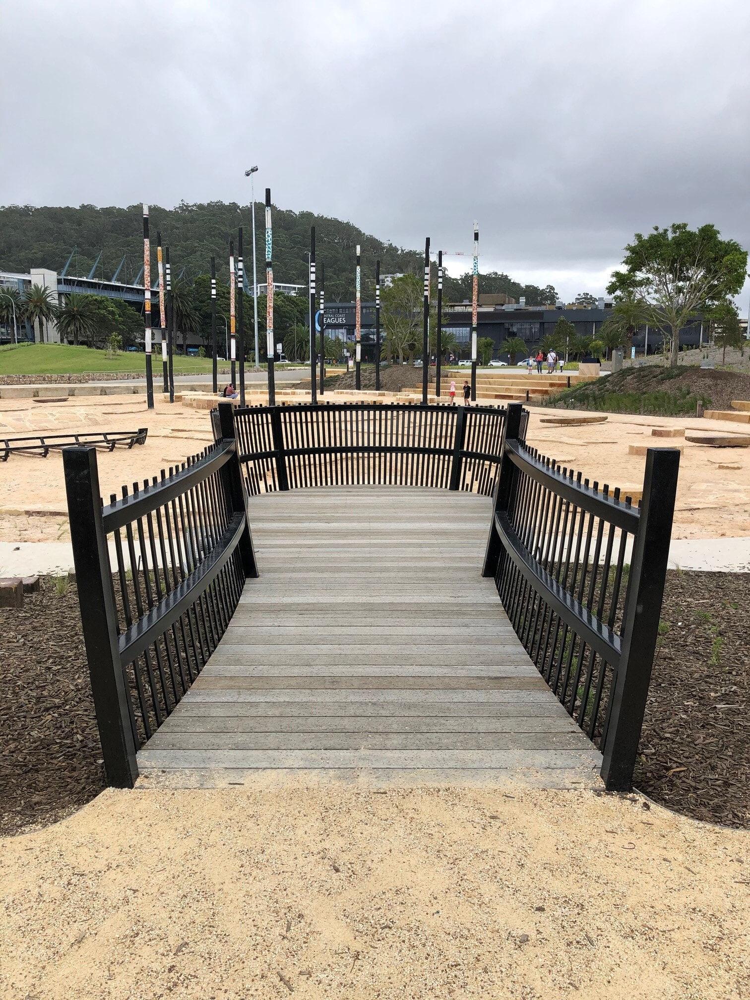 Gosford Playground Steel Balustrade