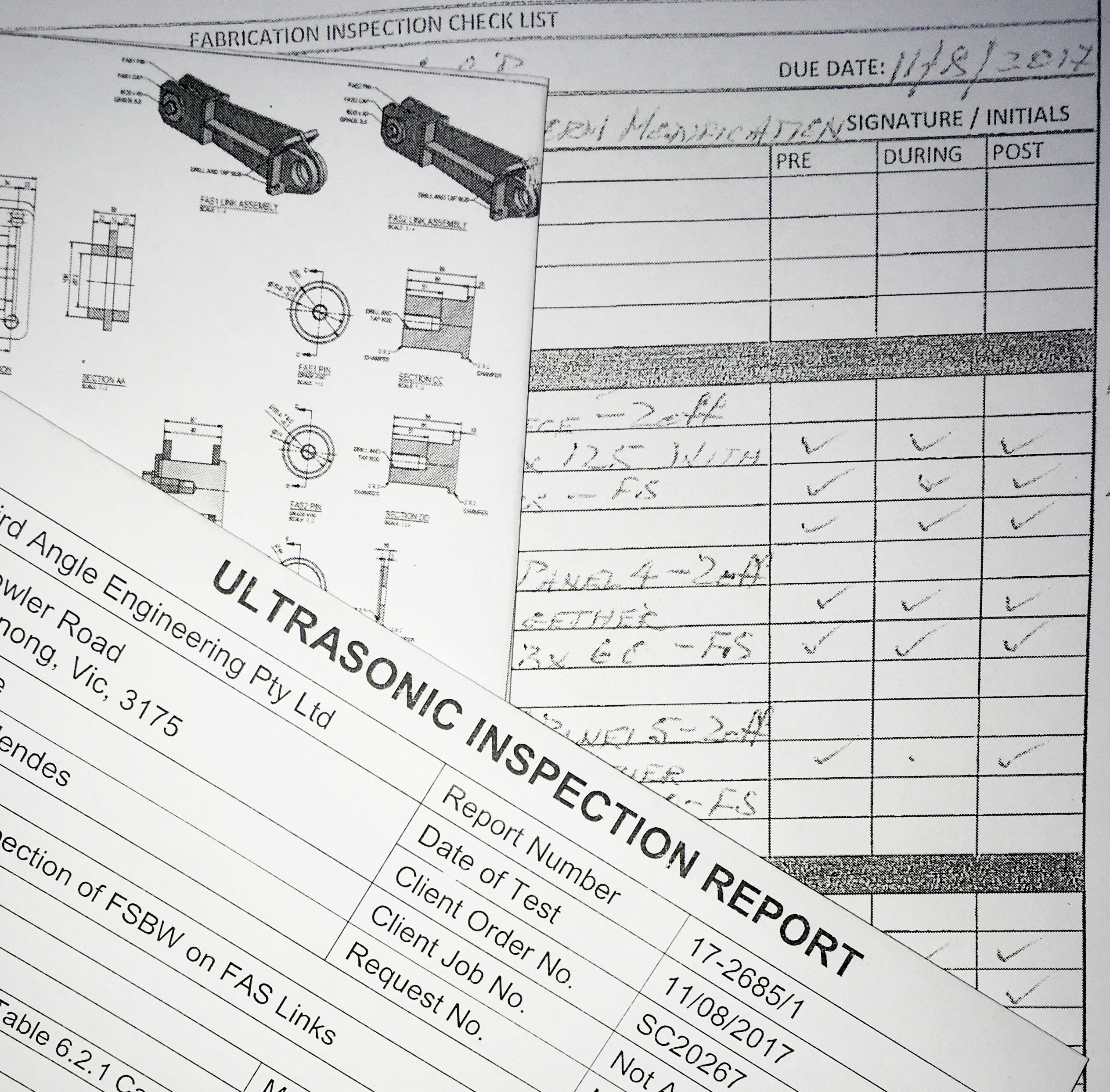 Weld Test Inspection Report