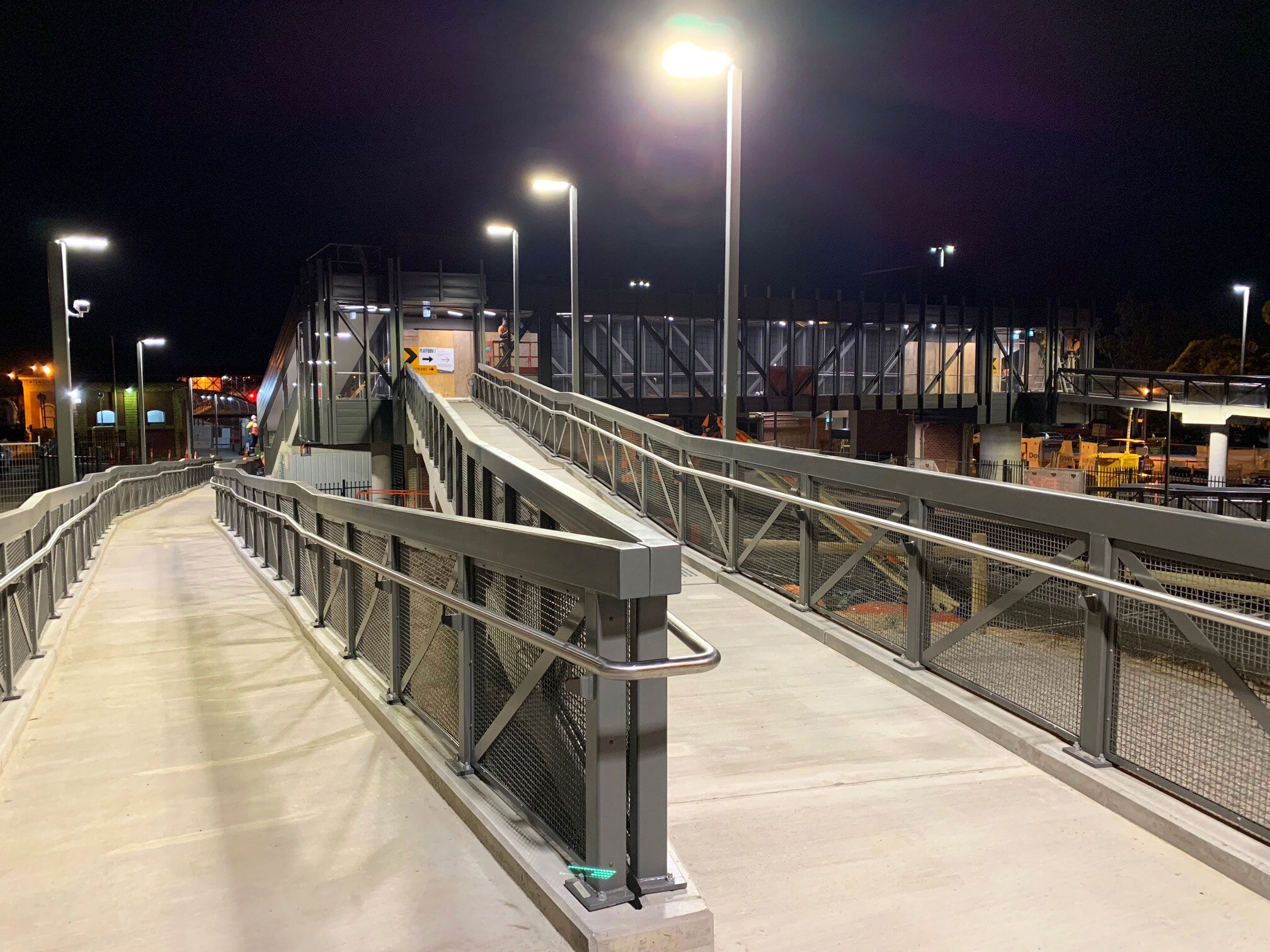 Access barrier and handrails