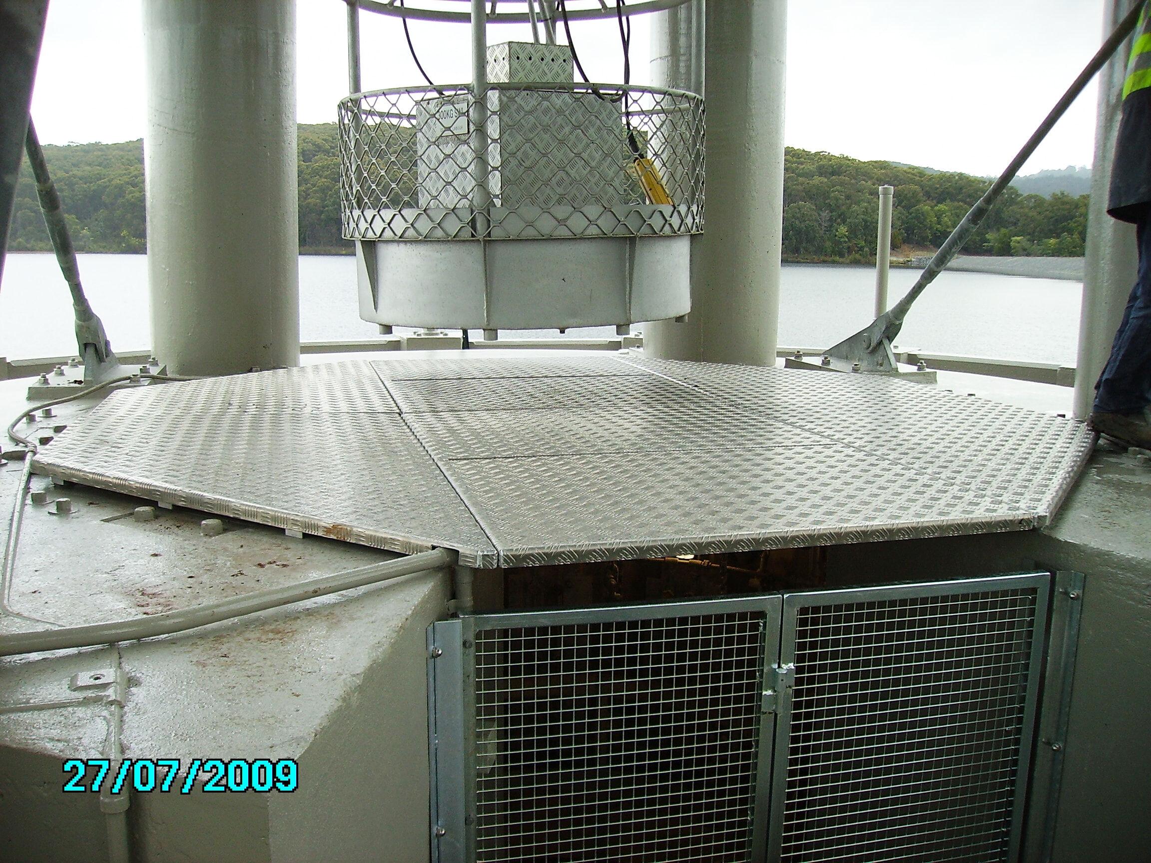 Silvan Dam door access