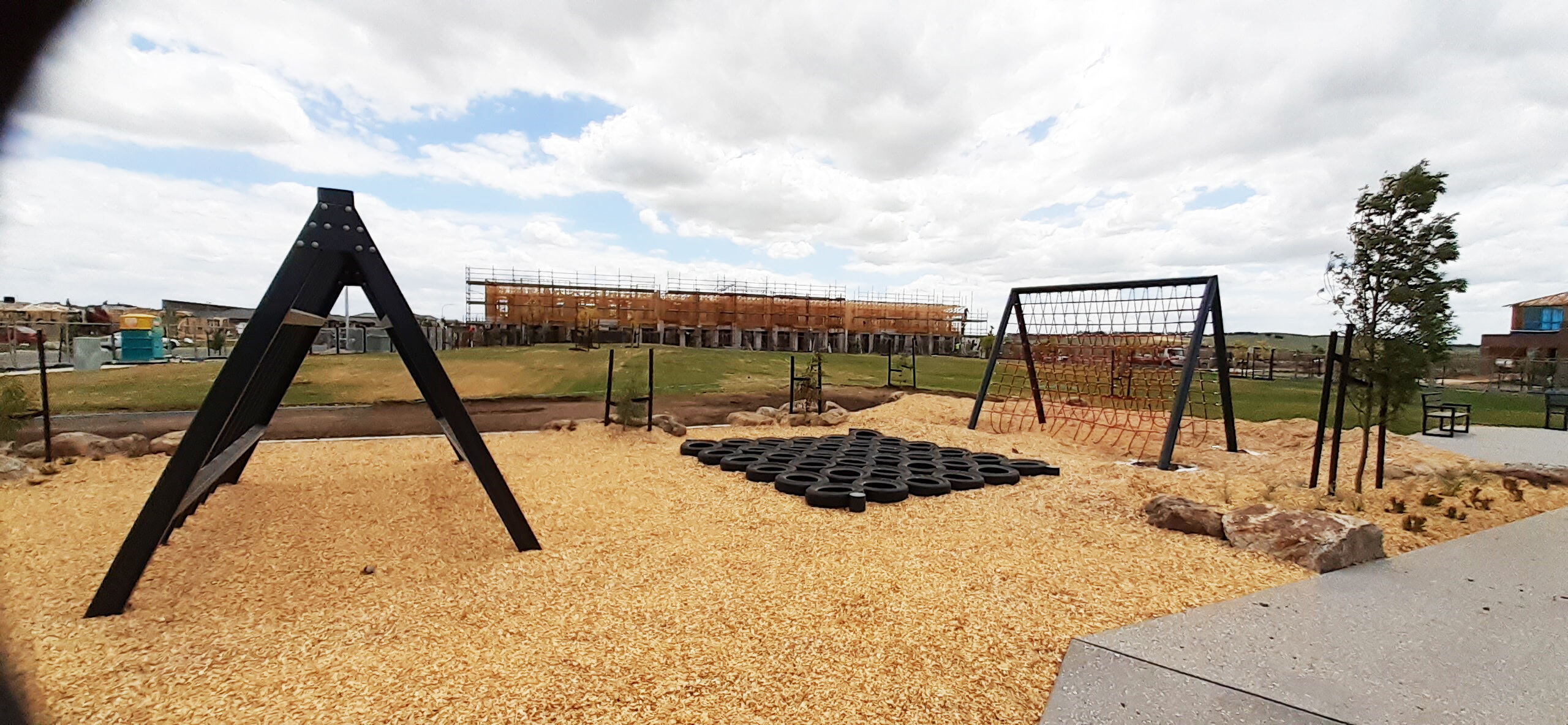Playground with Rope Net Climbing Frame 2