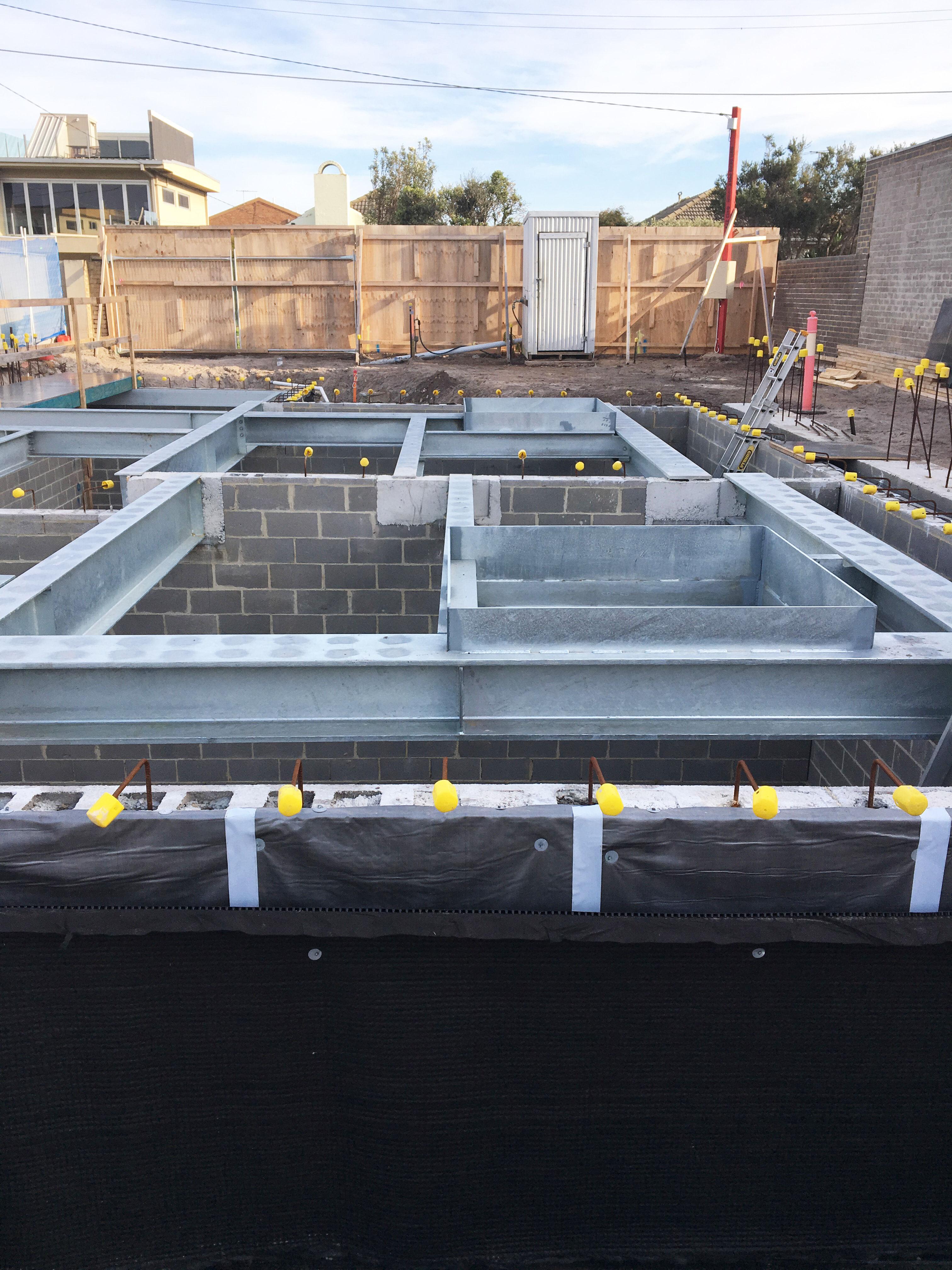 Construction steel floor frame 2