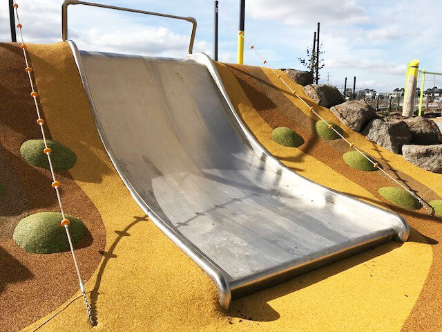 Stainless Steel Large flat bed embankment slide