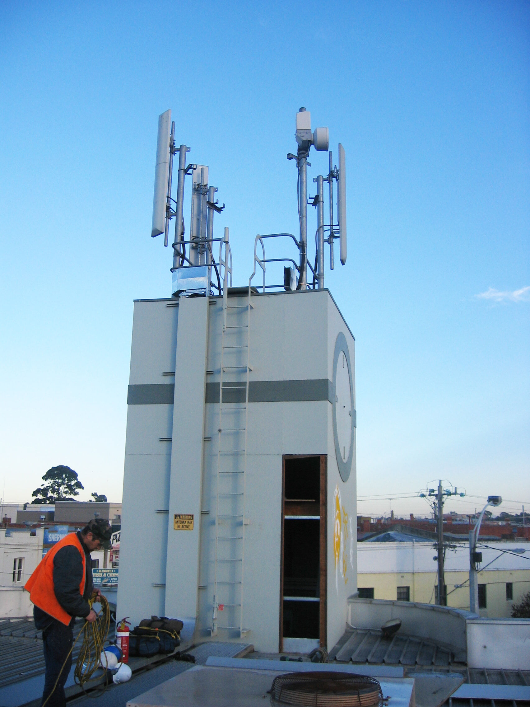 Telco Telecommunication roof Tower 5