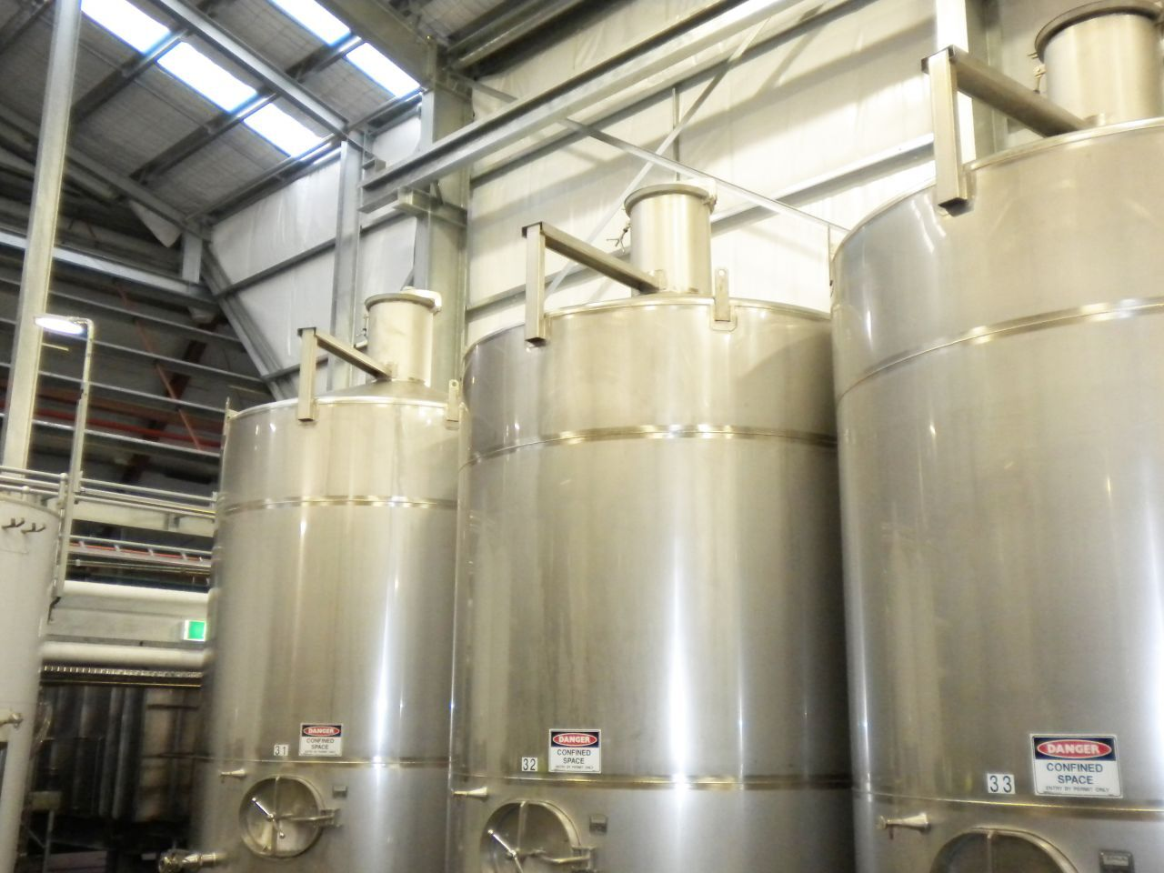 Food and Beverage Stainless Steel Vats