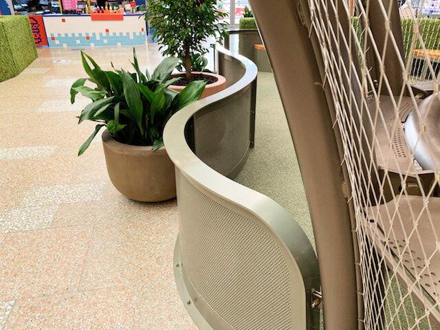 Indoor playground steel mesh barrier fencing
