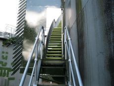 Stainless Steel Staircase with Hand Railing